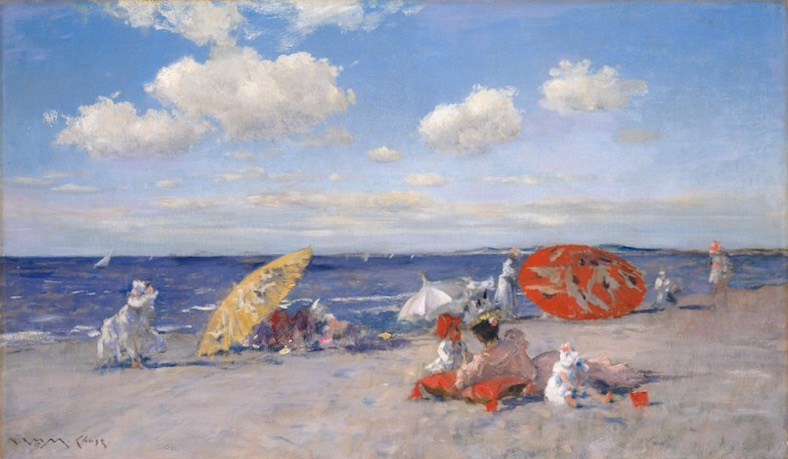 William Merritt Chase, At the Seaside, ca. 1892. Oil on canvas, 20 x 34 in. The Metropolitan Museum of Art, Bequest of Miss Adelaide Milton de Groot.