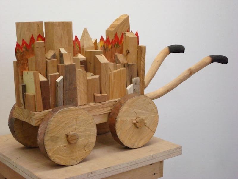 Lerman_Untitled (from the Trojan series).1994.Wood.copper.21x38x13.5
