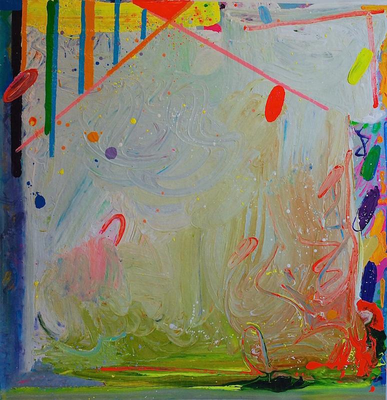 "Reginato_""Ensor's Ghost_50x49 inches enamel on canvas 2015"