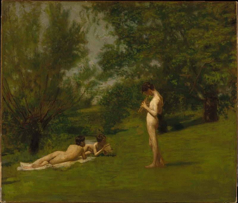 Thomas Eakins, Arcadia, ca. 1883. Oil on canvas, 38⅝ x 45 in. The Metropolitan Museum of Art, Bequest of Miss Adelaide Milton de Groot (1876–1967), 1967.