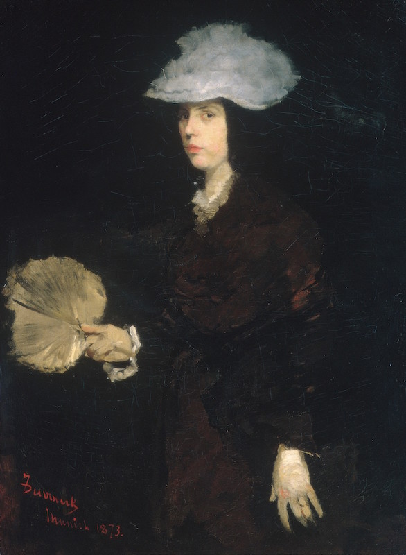 Frank Duveneck, Lady with a Fan, 1873. Oil on canvas, 42¾ x 32¼ in. The Metropolitan Museum of Art, Gift of the Charles F. Williams family, 1966.