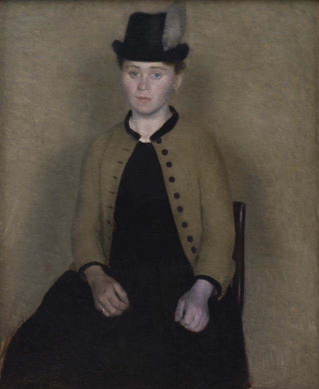 Vilhelm Hammershøi, Portrait of Ida Ilsted, Later the Artist's Wife, 1890. Oil on canvas, 42 x 33⅞ in.