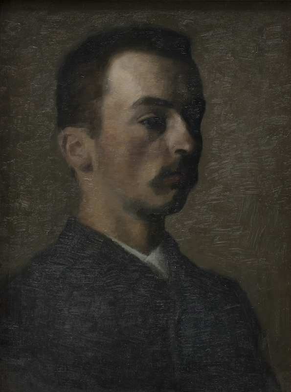 Vilhelm Hammershøi, Self-Portrait, 1890. Oil on canvas, 20 1/2 x 15 1/2 in.