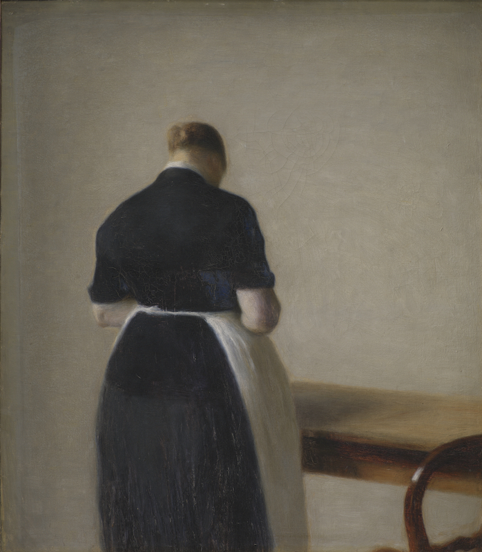 Vilhelm Hammershøi, Woman Seen from the Back, 1888. Oil on canvas, 25 x 21 5/8 in.