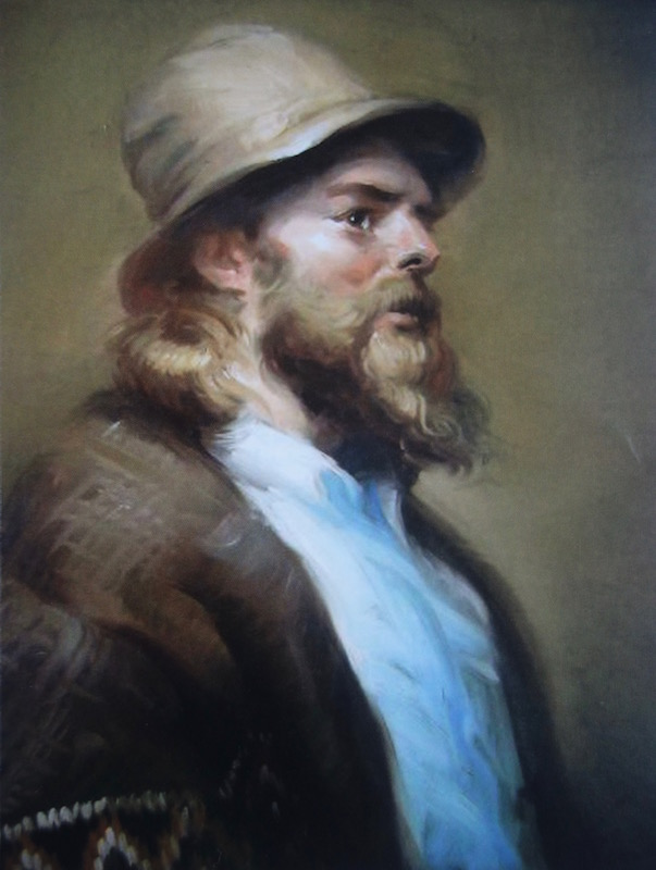 James Sulkowski, Homeless Man, 1979. Oil on canvas, 24 x 18 in.