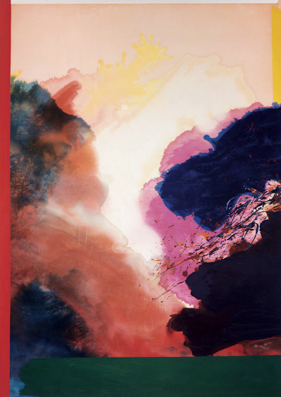 Ronnie Landfield, Lucia's Arabian Dance, 1971. Acrylic on canvas, 112 x 79 in.
