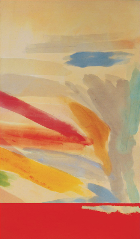 Ronnie Landfield, Summer's End, 1980. Acrylic on canvas, 83½ x 49 in.
