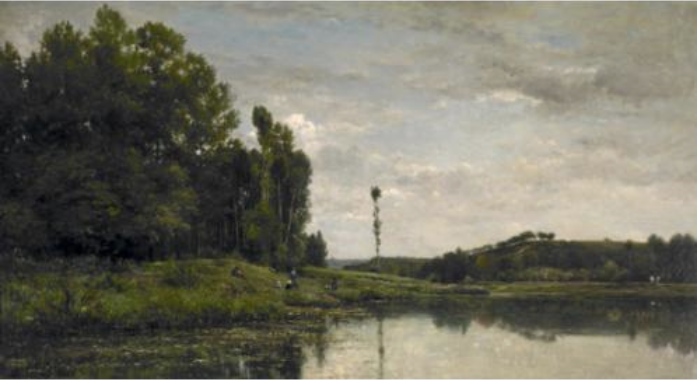 Charles-François Daubigny, Banks of the Oise at Auvers, 1863.