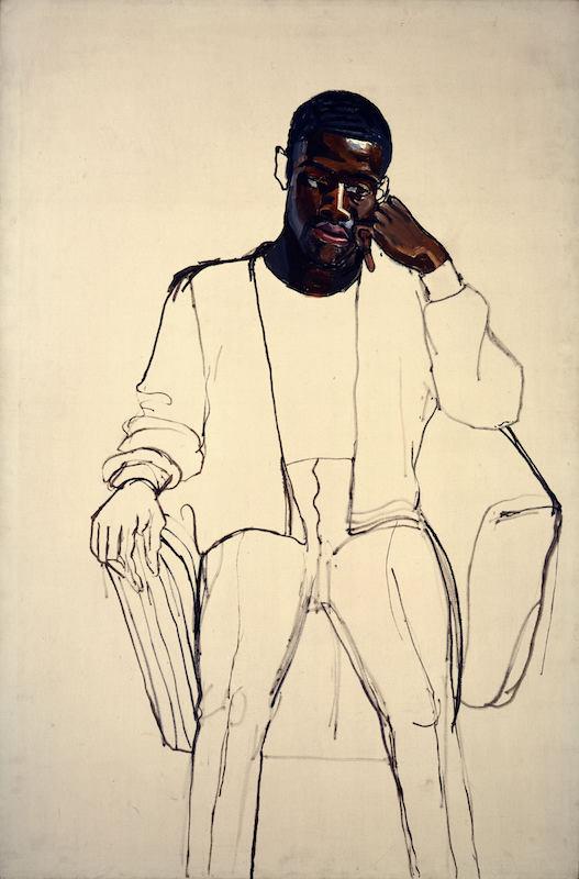 Alice Neel, James Hunter Black Draftee, 1965. Oil on Canvas, 60 x 40 in. COMMA Foundation Belgium. © The Estate of Alice Neel