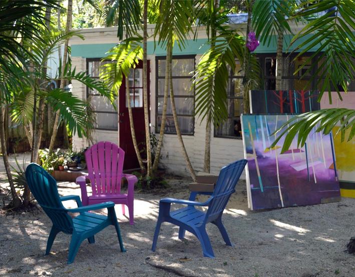Miami artist studio