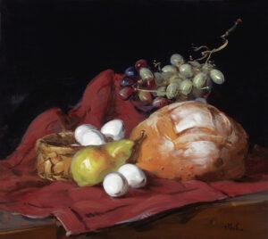 Thomas Torak_Bread and Eggs_2013_Oil on Linen_18 x 20