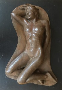 Richard Barnet, Carmen Reclining, 2001. Bonded bronze, 25 x 17 x 5 in.