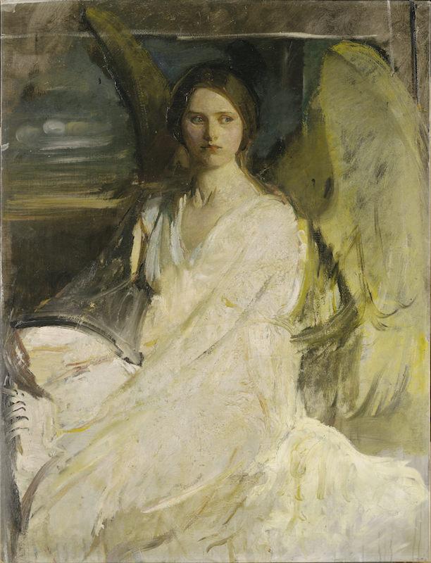 Abbott Handerson Thayer, Angel, ca. 1900-1903. Oil on canvas. Harvard/Fogg Museum. Gift of Irwin D. Hoffman.