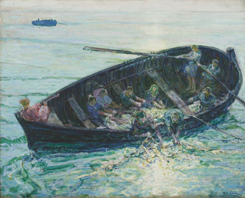 National Academy of Design Henry Ossawa Tanner, The Miraculous Haul of Fishes, c. 1913–14. Oil on canvas, 38 x 47½ in. National Academy Museum, New York