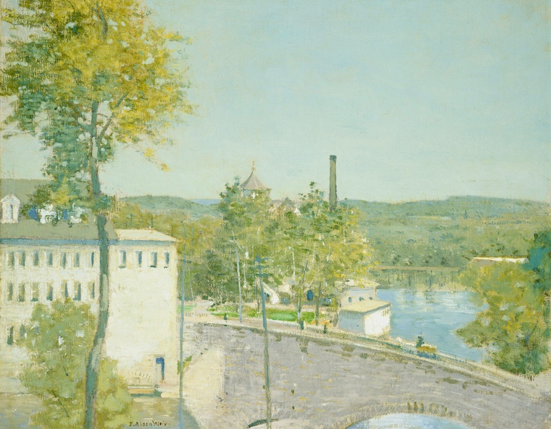 Julian Alden Weir, U.S. Thread Company Mills, Willimantic, Connecticut, American, 1852 - 1919, c. 1893/1897, oil on canvas, Gift of Margaret and Raymond Horowitz, in Honor of the 50th Anniversary of the National Gallery of Art