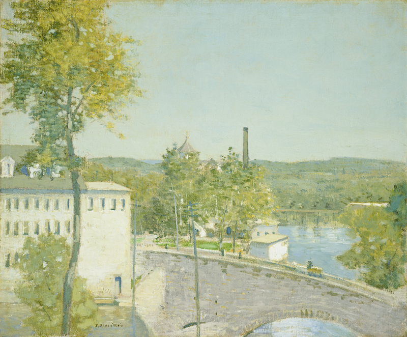 Julian Alden Weir, <i>U.S. Thread Company Mills, Willimantic, Connecticut</i>, c. 1893/1897. Oil on canvas, Gift of Margaret and Raymond Horowitz, in Honor of the 50th Anniversary of the National Gallery of Art