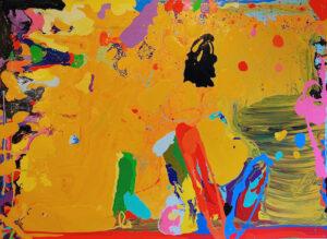 Peter Reginato Peter Reginato, The Dude, 2016. Enamel on canvas, 70 x 96 in.