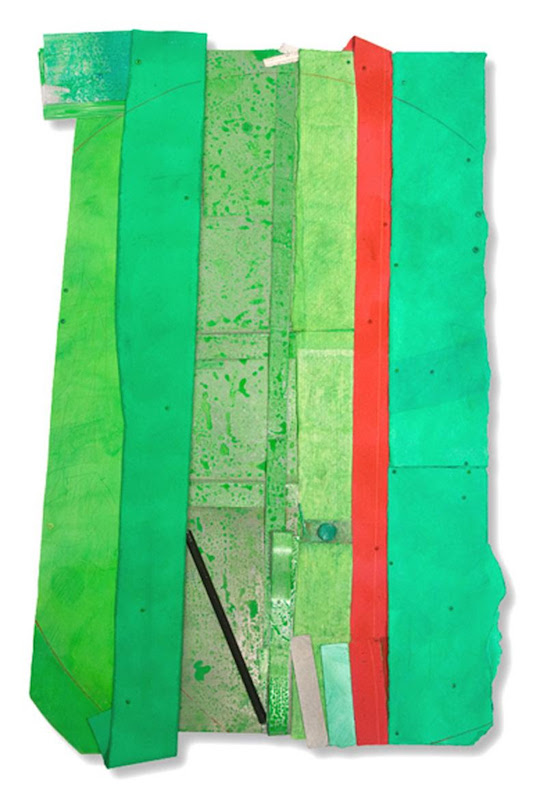 Bruce Dorfman, Molly Bloom, 2012. Canvas, metal, paper, acrylic, 66 x 47 x 6 in.