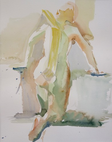 Jiin Ahan, A woman in green