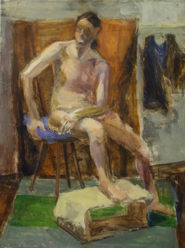 Maria-Jose J. Foy, Model on a Chair