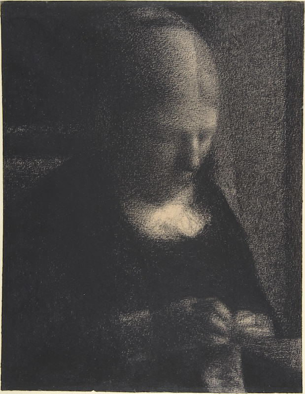 Back to the Drawing Board Georges Seurat, Embroidery; The Artist's Mother, 1882–83. Conté crayon on Michallet paper, 12 5/16 x 9 7/16 in. Purchase, Joseph Pulitzer Bequest, 1951; acquired from The Museum of Modern Art, Lillie P. Bliss Collection. The Metropolitan Museum of Art.