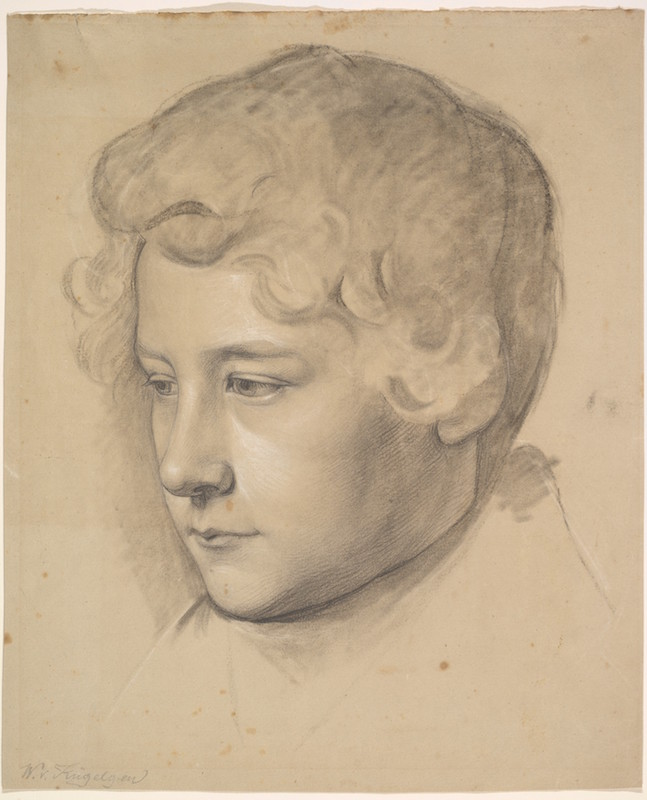 Back to the Drawing Board Wilhelm von Kügelgen, Portrait of a Young Man, mid-19th century. Black chalk, heightened with white chalk, on brown-grey paper,The Elisha Whittelsey Collection, the Elisha Whittelsey Fund, 2012. The Metropolitan Museum of Art.