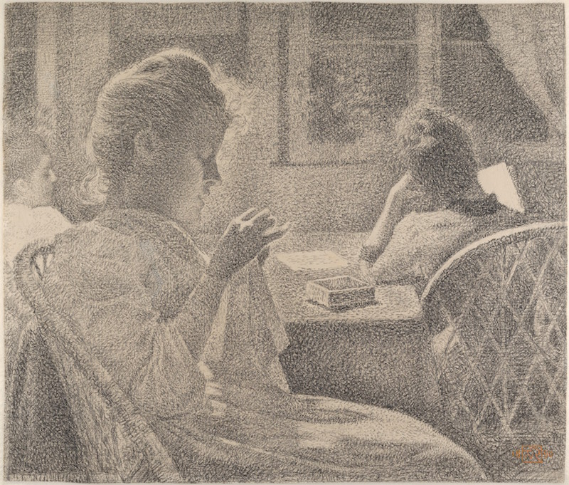 Back to the Drawing Board Theo Van Rysselberghe, Intimacy, 1890. Conté crayon; framing line in conté crayon (or graphite?), by the artist,17 1/16 × 20 in. Walter and Leonore Annenberg Acquisitions Endowment Fund, 2015. The Metropolitan Museum of Art.