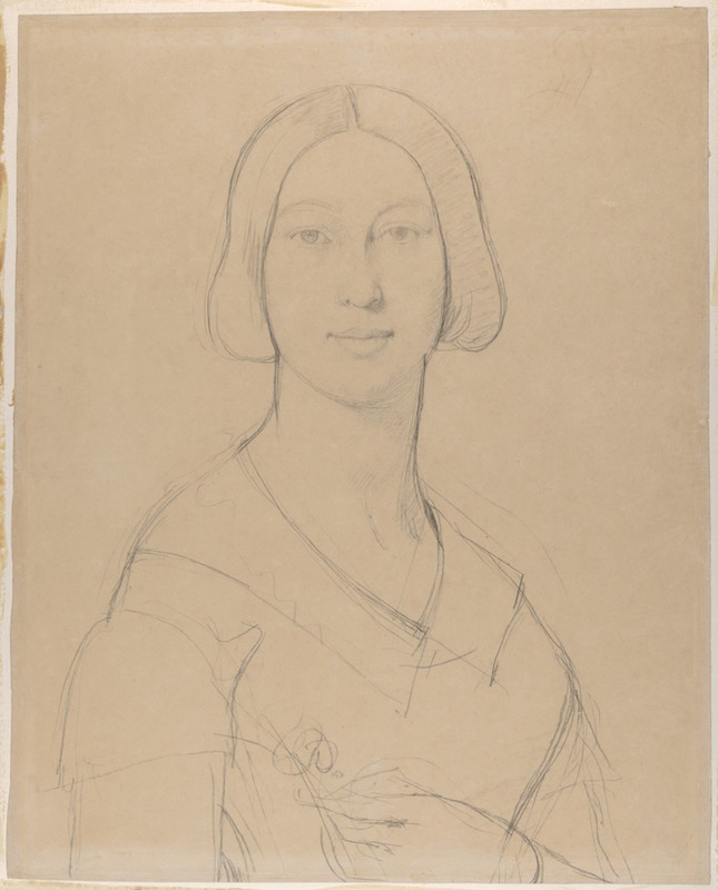 Back to the Drawing Board Jean Auguste Dominique Ingres, Portrait of Madame Paul Meurice, née Palmyre Granger, ca. 1845–50. Graphite on wove paper, 22 × 17 5/8 in. Purchase, Harris Brisbane Dick, Louis V. Bell, and Harry G. Sperling Funds, The Elisha Whittelsey Collection, The Elisha Whittelsey Fund, and Leon D. Black Gift, 2016. The Metropolitan Museum of Art.