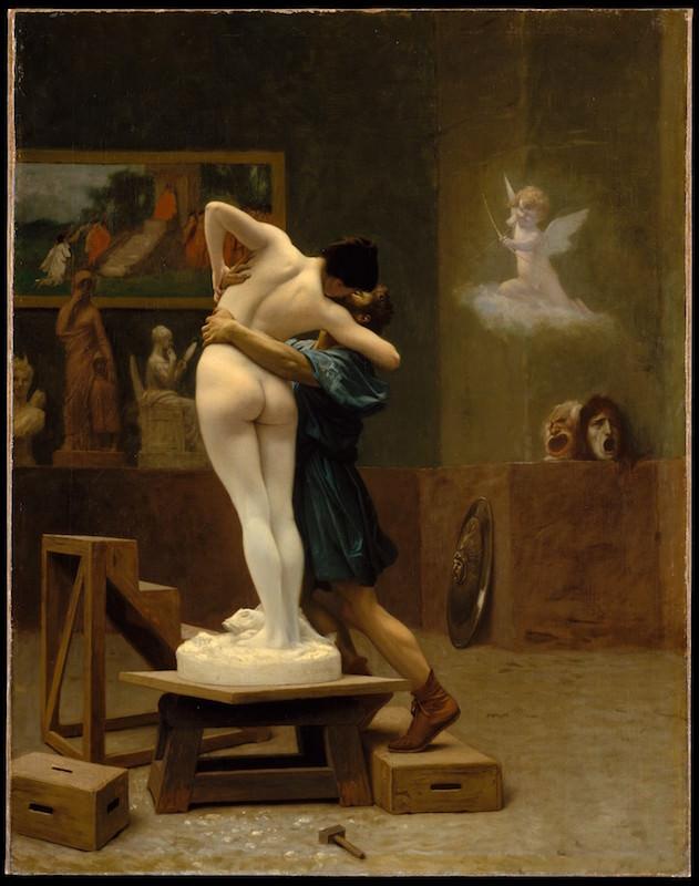Jean-Léon Gérôme, Pygmalion and Galatea, ca. 1890. Oil on canvas, 35 x 27 in. Gift of Louis C. Raegner, 1927. The Metropolitan Museum of Art.
