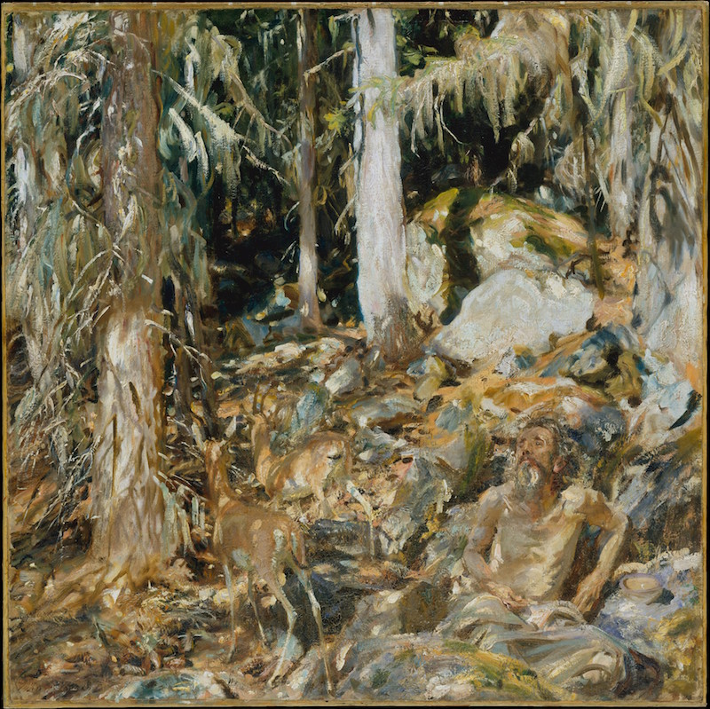 John Singer Sargent, The Hermit (Il solitario), 1908. Oil on canvas, 37¾ x 38 in. Rogers Fund, 1911. The Metropolitan Museum of Art.