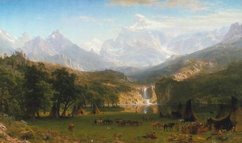 Albert Bierstadt, The Rocky Mountains, Lander's Peak, 1863. Oil on canvas, 73 1/2 x 120 3/4 in. Rogers Fund, 1907. The Metropolitan Museum.