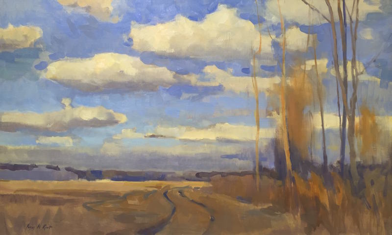 Peggy Root, Clouds, North Alabama, 2013. Oil on canvas.