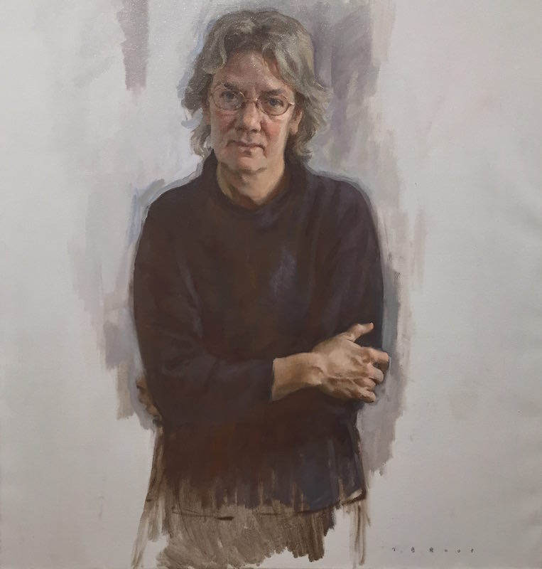 Tom Root, Portrait of Christine Murdock, 2011. Oil on canvas.