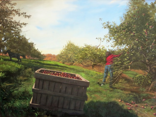 Picking Apples 36 x 48(2)