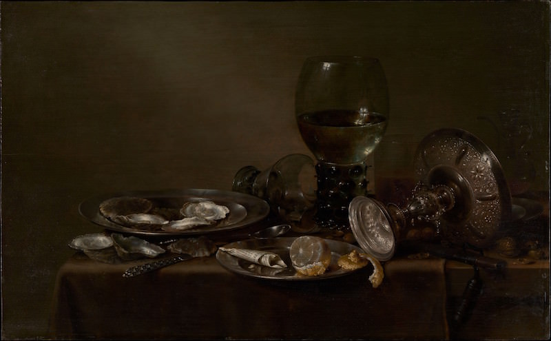 New York Times Old Masters  Willem Claesz Heda, Still Life with Oysters, a Silver Tazza, and Glassware, 1635. Oil on wood, 19⅝ x 31¾ in. From the Collection of Rita and Frits Markus, Bequest of Rita Markus, 2005. The Metropolitan Museum of Art.