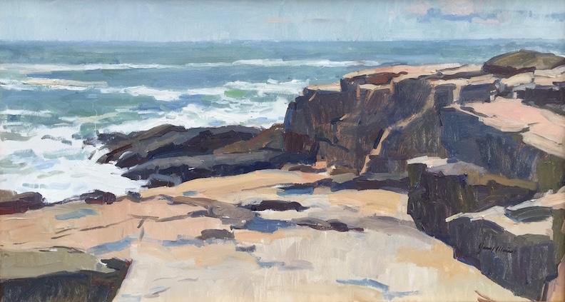 Jerry Weiss, Schoodic Point. Oil on linen, 22 x 40 in.