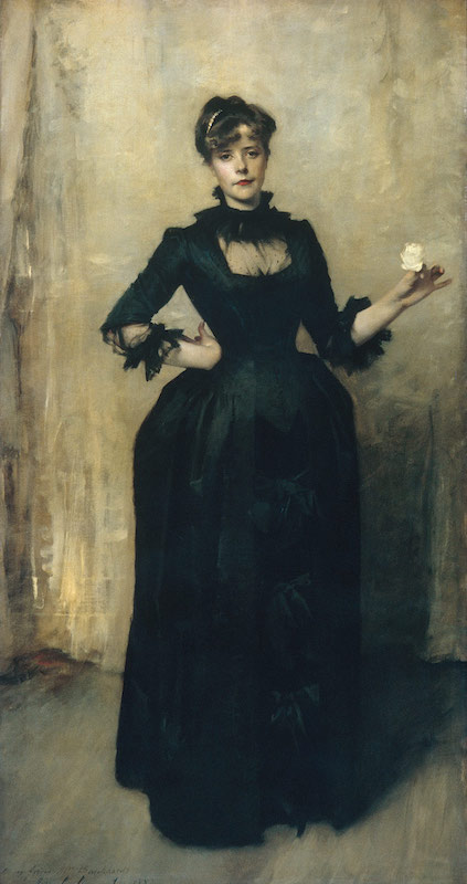 Working Title/Artist: Lady with the Rose (Charlotte Louise Burckhardt) Department: Am. Paintings / Sculpture Culture/Period/Location: HB/TOA Date Code: Working Date: 1882 scanned for collections