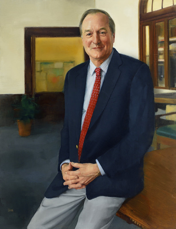 Sharon Sprung, Portrait of David Harmon Headmaster of Poly Prep Country Day School . Oil on panel, 40 x 32 in. Sharon Sprung portrait commission
