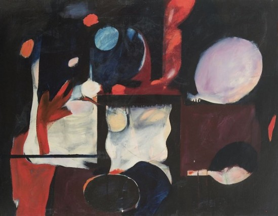 William Scharf, Of the Square and by the Night, 1956. Oil on canvas, 36 x 48 in.