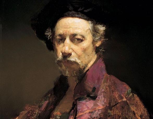 David Leffel Self-portraits