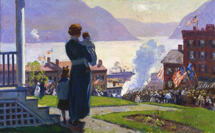 Gifford Beal On the Hudson at Newburgh