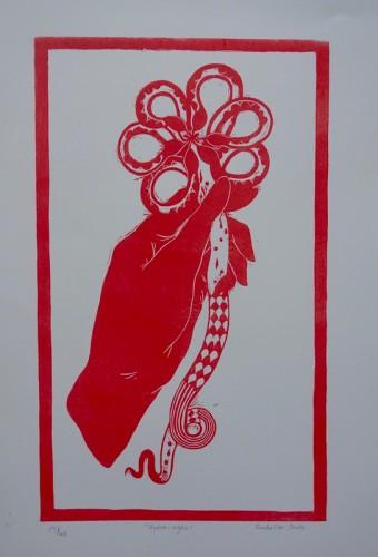 Linocut by Rachelle Hall