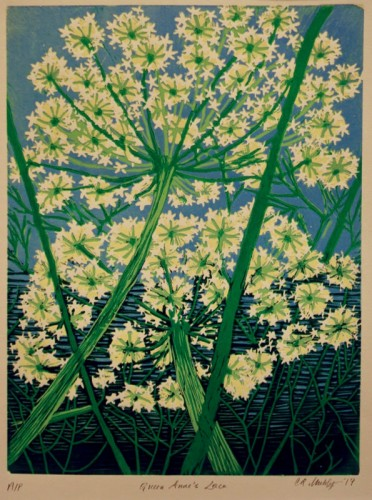 Linocut by Catherine Muhly