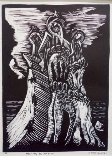 Linocut by Kirk Van Tassel