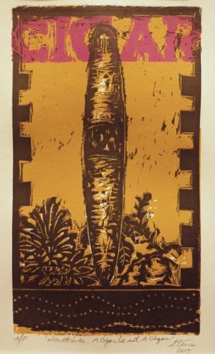 Linocut by Jim Steere