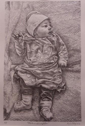 Stone lithograph by Fejzo Lalaj