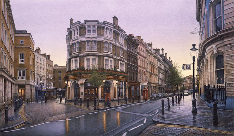 Frederick Brosen Watercolor Winfield Gallery