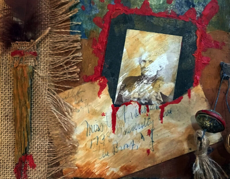 Martha Bloom Collage and Assemblage Workshop at Red Bee Barn
