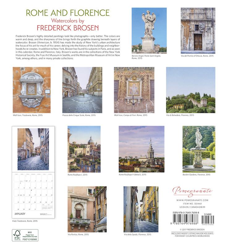 frederick brosen 2018 calendar
