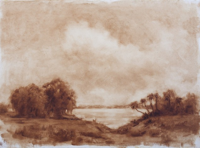 Michael Burban - St. John's River, North Florida - 6-28-17 - Oil on canvas - 18x24